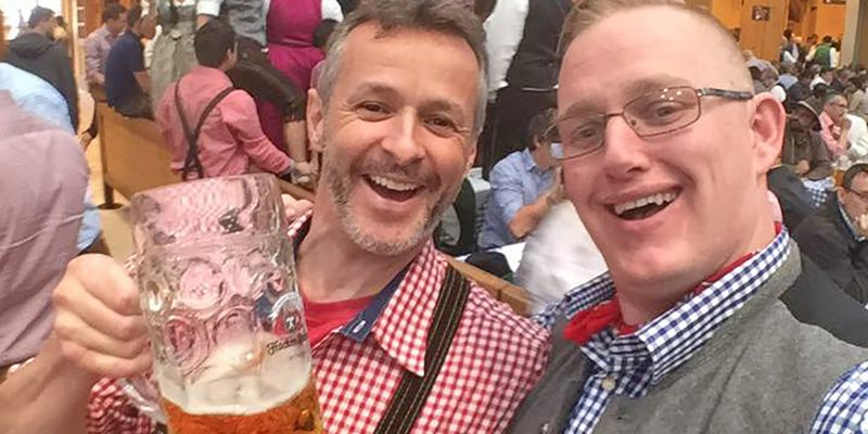 Paul Wade and Nevada Jack Smith pose during Oktoberfest 2017 in Munich, Germany